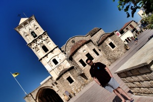 My better half in front of Byzantine church
