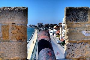 Cannon view of finikoudes promenade