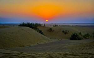 ROMANTIC SUNSET IN THAR SAND DUNES